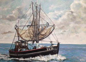 Appie Kant als garnalenvisser