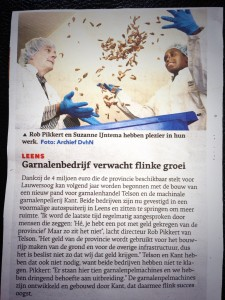 Dagblad van het Noorden - Garnalenbedrijf verwacht flinke groei