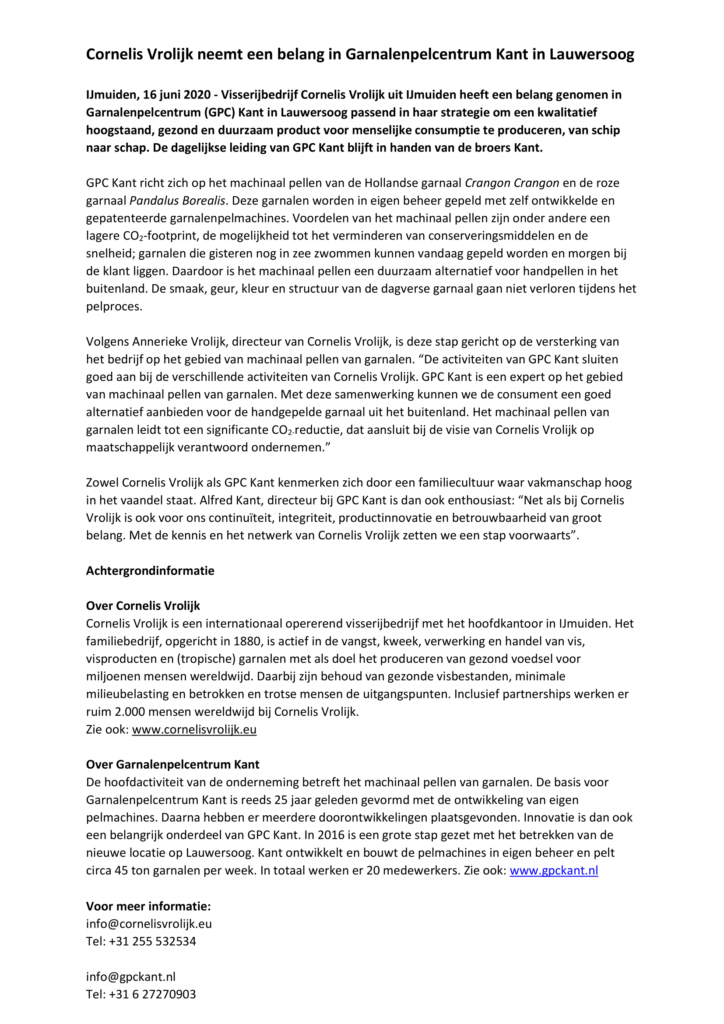 20200616 Persbericht Kant-1